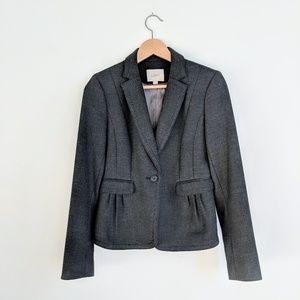 LOFT skirt and jacket charcoal grey suit set